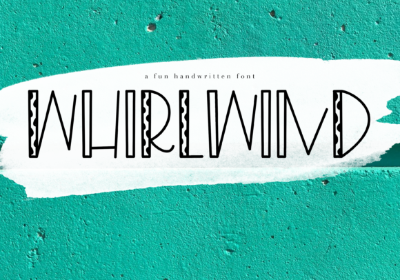 Print on Demand: Whirlwind Display Font By KA Designs