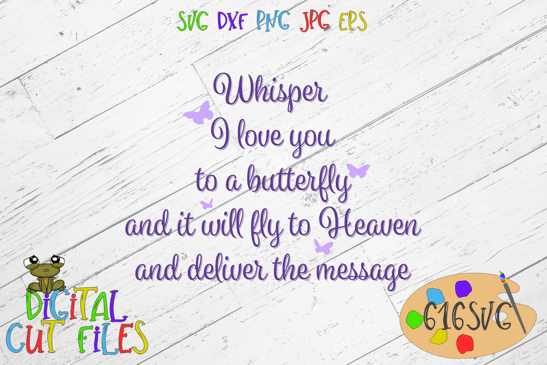 Download Free Whisper I Love You To A Butterfly Svg Graphic By 616svg for Cricut Explore, Silhouette and other cutting machines.