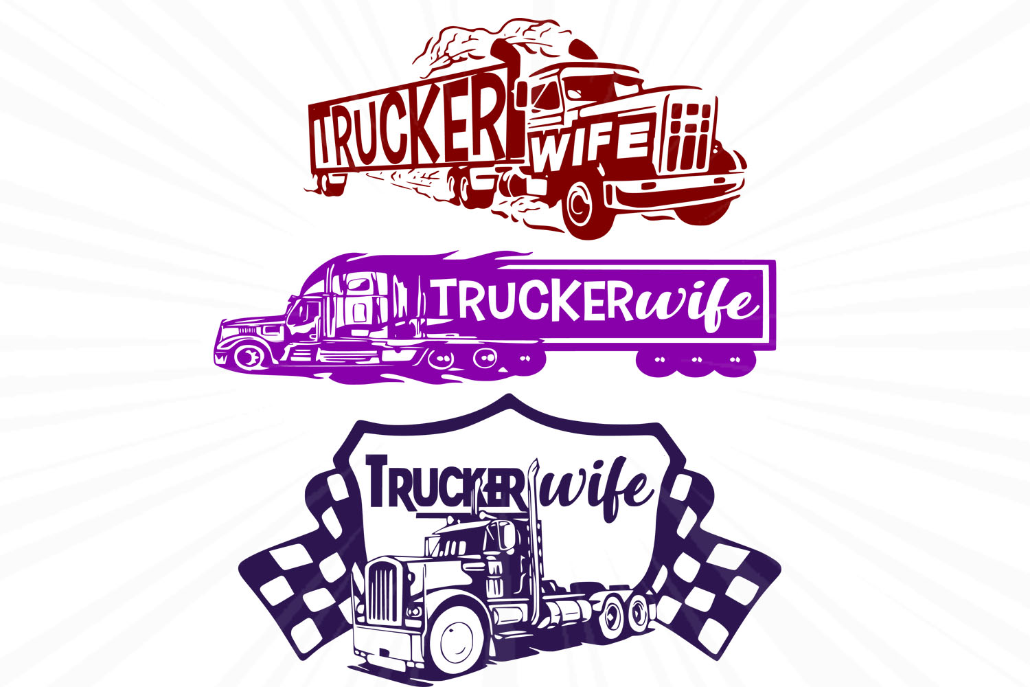 Download Free Wife Truck Trucker Wife Graphic By Johanruartist Creative Fabrica for Cricut Explore, Silhouette and other cutting machines.