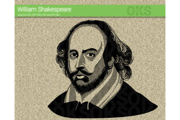 Download Free William Shakespeare Svg Vector Graphic By Crafteroks Creative for Cricut Explore, Silhouette and other cutting machines.