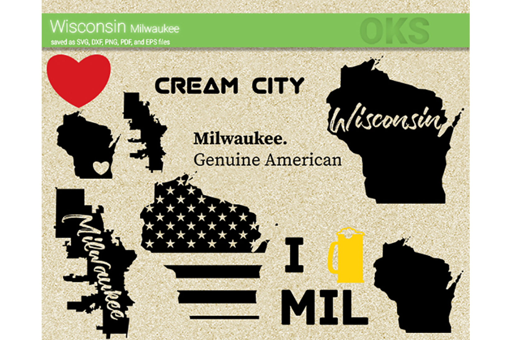 Download Free Wisconsin Milwaukee Vector Graphic By Crafteroks Creative Fabrica for Cricut Explore, Silhouette and other cutting machines.