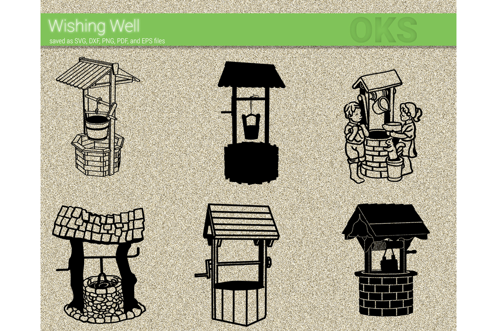 Download Free Wishing Well Vector Graphic By Crafteroks Creative Fabrica for Cricut Explore, Silhouette and other cutting machines.