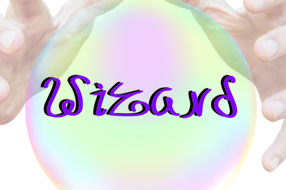 Print on Demand: Wizard Script & Handwritten Font By GraphicsBam Fonts
