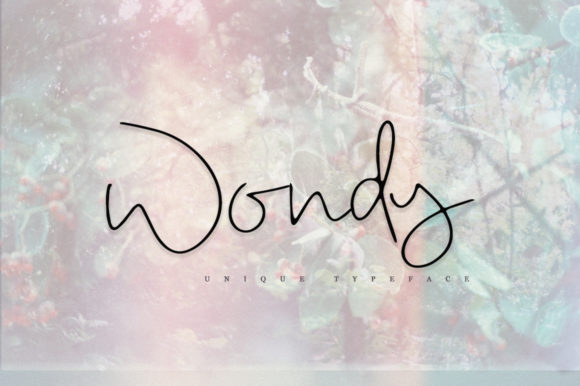 Print on Demand: Wondy Script & Handwritten Font By Katie Holland