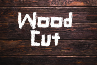 Print on Demand: Wood Cut Decorative Font By GraphicsBam Fonts