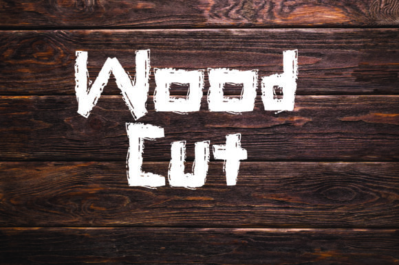 Print on Demand: Wood Cut Decorative Font By GraphicsBam Fonts - Image 1
