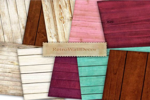 Download Free Wood Digital Paper Graphic By Retrowalldecor Creative Fabrica for Cricut Explore, Silhouette and other cutting machines.