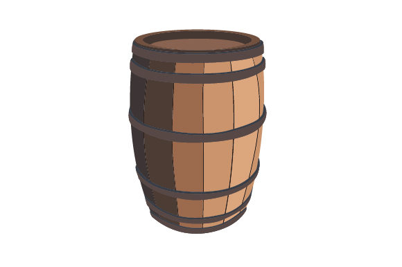 Wooden Barrel Svg Cut File By Creative Fabrica Crafts Creative