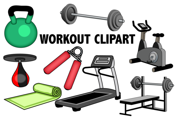 Workout Clipart Graphic By Mine Eyes Design Image 1