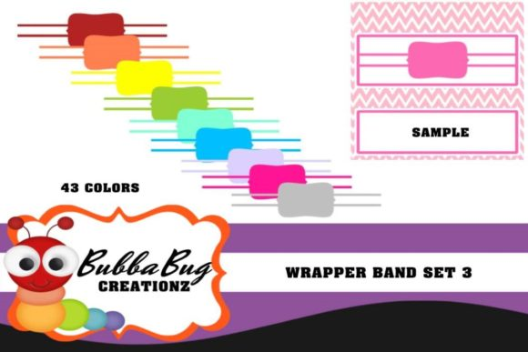 Wrapper Band Set 3 Graphic Crafts By BUBBABUG