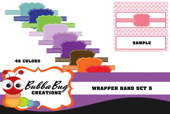 Wrapper Band Set 5 Graphic Crafts By BUBBABUG