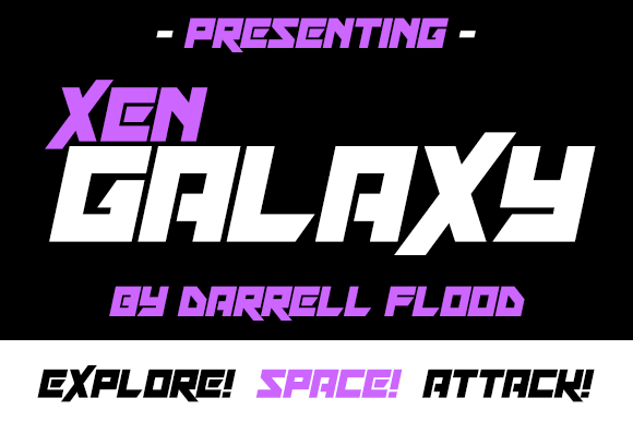 Print on Demand: Xen Galaxy Display Font By Dadiomouse