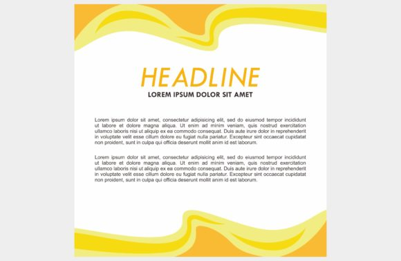 Yellow Orange Background Frame Graphic Backgrounds By dstudio