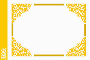 Yellow Ornament Border Decorative Graphic By Arief Sapta Adjie II