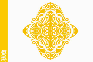 Yellow Ornament Decorative Graphic By Arief Sapta Adjie II
