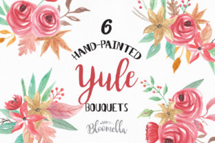 Yule Christmas Watercolour Floral Festive Clipart Graphic By Bloomella