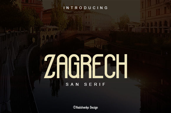 Print on Demand: Zagrech Sans Serif Font By saputro.hadi07
