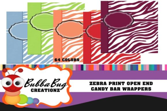 Zebra Print Candy Wrappers Graphic Crafts By BUBBABUG