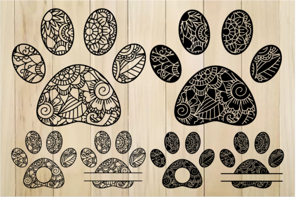 Print on Demand: Zentangle Paws  Graphic Crafts By yulnniya