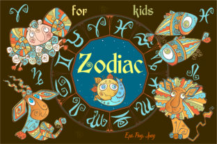 Zodiac Signs for Children Graphic Illustrations By grigaola