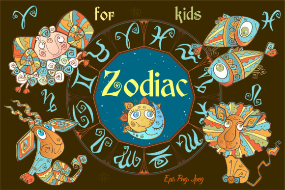 Zodiac Signs for Children Graphic By grigaola