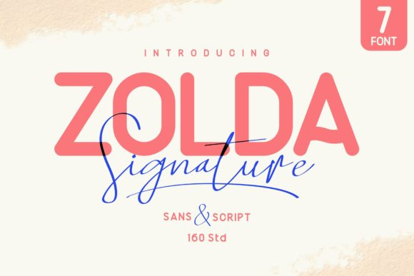Print on Demand: Zolda Sans Serif Font By 160 Studio