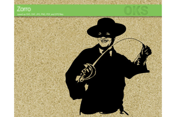 Download Free Zorro Vector Graphic By Crafteroks Creative Fabrica for Cricut Explore, Silhouette and other cutting machines.