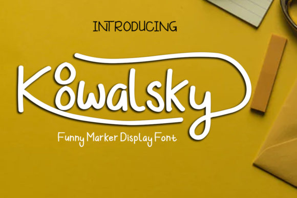 Print on Demand: Koowalsky Display Font By Madatype Studio