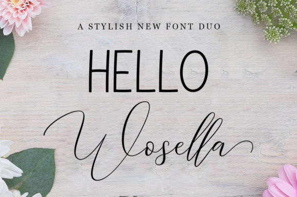 Print on Demand: Wosella Duo Script & Handwritten Font By STRAIGHT.CO