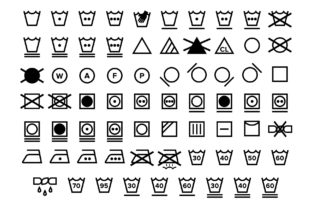 Print on Demand: Laundry Care Symbol Icons Set Graphic Icons By Running With Foxes