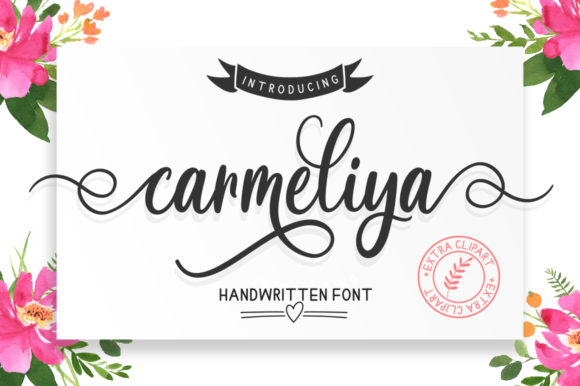 Print on Demand: Carmeliya Script & Handwritten Font By kammaqsum