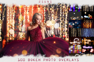 100 Bokeh Lights Effect Photo Overlays Graphic Actions & Presets By 2SUNS