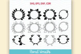 12 Flower Floral Wreath Set Graphic By Vector City Skyline
