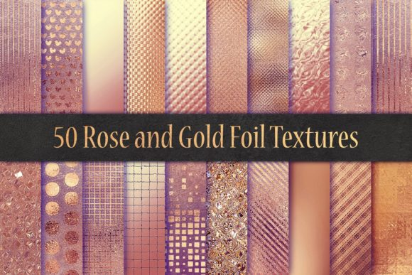 Print on Demand: Rose Foil Textures Graphic Patterns By Creative Paper - Image 2