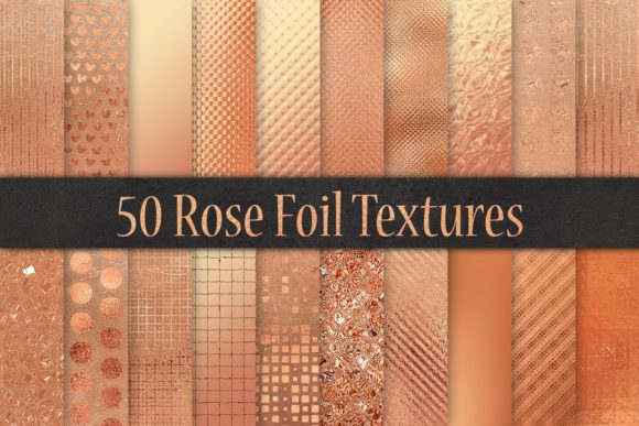 Rose Foil Textures Graphic By artisssticcc Image 2
