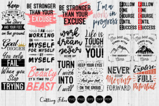 Download Free 18 Motivational Designs Bundle Graphic By Hd Art Workshop for Cricut Explore, Silhouette and other cutting machines.