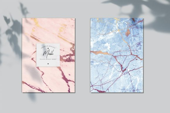 Rose and Blue Gold Marble Patterns Graphic By artisssticcc Image 2