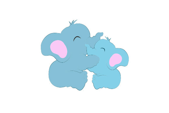Download Free 2 Baby Elephants Cuddling Together Svg Cut File By Creative Fabrica Crafts Creative Fabrica for Cricut Explore, Silhouette and other cutting machines.