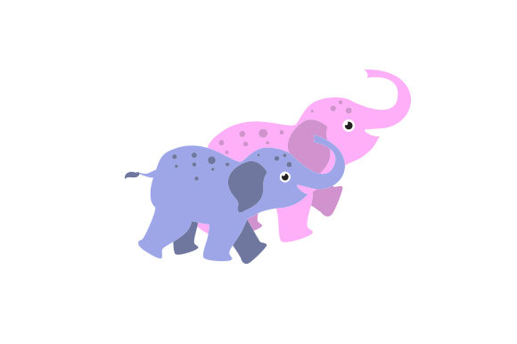 Download Free 2 Baby Elephants Walking Together Svg Cut File By Creative Fabrica Crafts Creative Fabrica SVG Cut Files