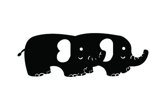 Download Free 2 Baby Elephants Walking Together Svg Cut File By Creative for Cricut Explore, Silhouette and other cutting machines.