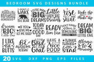 Download Free 20 Bedroom Svg Bundle Graphic By Designdealy Com Creative Fabrica for Cricut Explore, Silhouette and other cutting machines.