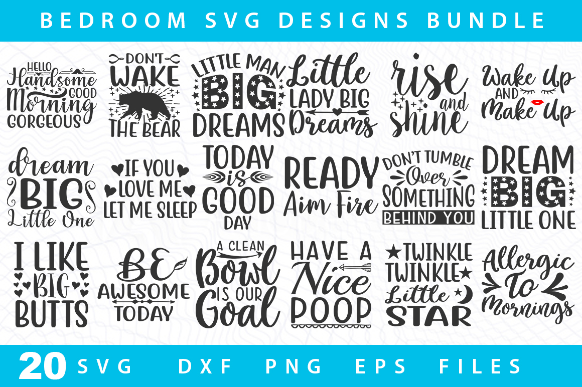 20 Bedroom Svg Bundle Graphic By Designdealy Com Creative Fabrica