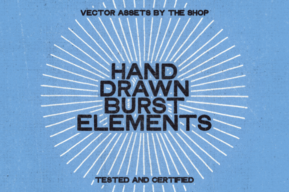 28 Hand-drawn Burst Elements Graphic Objects By theshopdesignstudio
