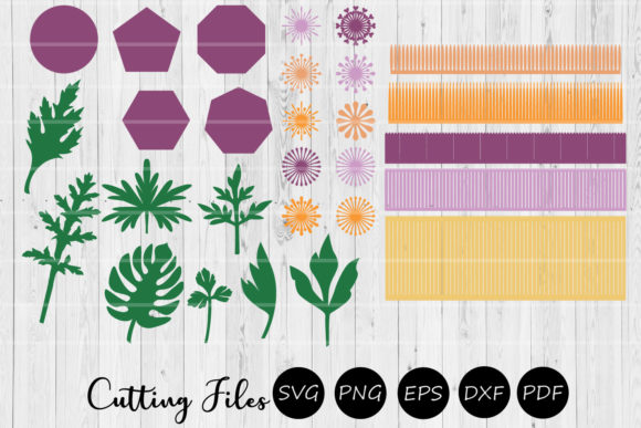 Download Free 28 Paper Flowers Leaves And Centers Graphic By Hd Art Workshop for Cricut Explore, Silhouette and other cutting machines.