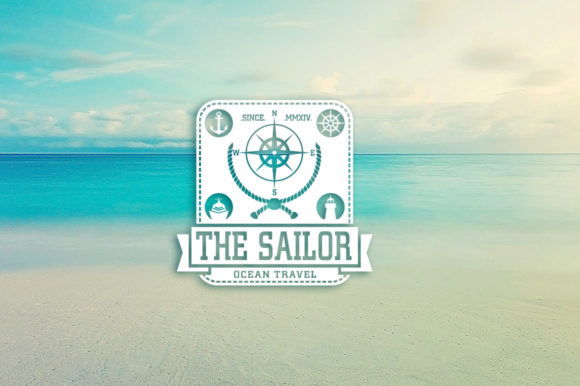 2O Vintage Sailor Graphic Logos By inumocca_type - Image 3