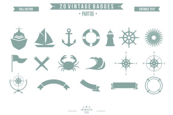 2O Vintage Sailor Graphic Logos By inumocca_type - Image 5