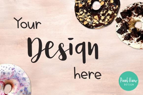 Print on Demand: 3 Donuts I Flatlay Graphic Product Mockups By Pixel View Design