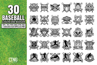 30 Baseball Logos and Badges Graphic By luluimanda82
