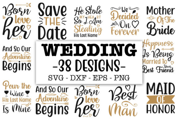 Print on Demand: 38 Wedding Bundle Graphic Print Templates By Designdealy.com