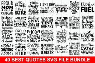 Print on Demand: 40 Best Quotes Bundle Graphic Print Templates By Designdealy.com
